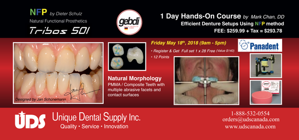 1 Day Hands-On Course Efficient Denture Setup Using NFP method