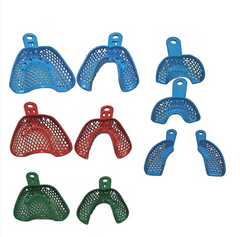 CTRAY Resin Coated Metal Impressional Trays  - Set of 10 Assorted Impression Trays by META DENTAL- Unique Dental Supply Inc.