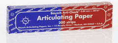 Bausch- Articulating Paper - 40μ (200/pkg) Articulating Paper by BAUSCH- Unique Dental Supply Inc.