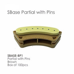 SBase Quad Partial - Stone Base Pack/100 pcs Articulating System by BesQual- Unique Dental Supply Inc.