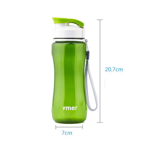 560ml/590ml Water Bottle Leak-proof With Rope Drinkware Unbreakable Water Bottle BPA free Plastic Water bottle leak-proof