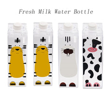 Load image into Gallery viewer, My 500ml BPA FREE Sport Plastic Kitchen Milk Water Bottle Cute Cartoon Creative Sport Outdoor Animal Cow Milk Bottles Drinkware