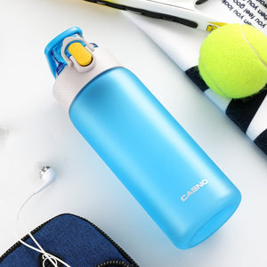 550ml/750ml New Sports Water Bottle With Filter BPA Free Portable Healthy Matte Plastic Bottles Durable Drinkware Eco-Friendly