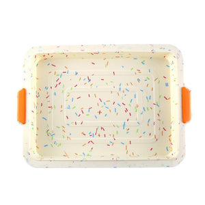Rectangle Non Stick Anti Scald Restaurant Kitchen Silicone Cake Mold Easy Clean Baking Tool With Handle Bread Soft Home Bakeware