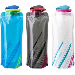 Portable Water Bottles Outdoor Sports Foldable Travel Drinkware Bag Seal Cover Non-Leak Drinking Supplies Kitchen Dining Bar