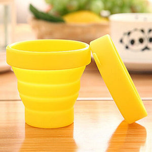 Protable Folding Gargle Cup Solid Color Water Silicone Cups For Outdoor Travel Drinkware Tools LAD-sale