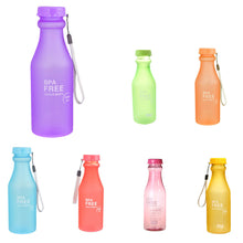 Load image into Gallery viewer, 550ml Leak-Proof Sports Water Bottle Large Capacity Plastic Bottle Bicycle Camping Sports Bottle Drinkware  Cover Lip BPA