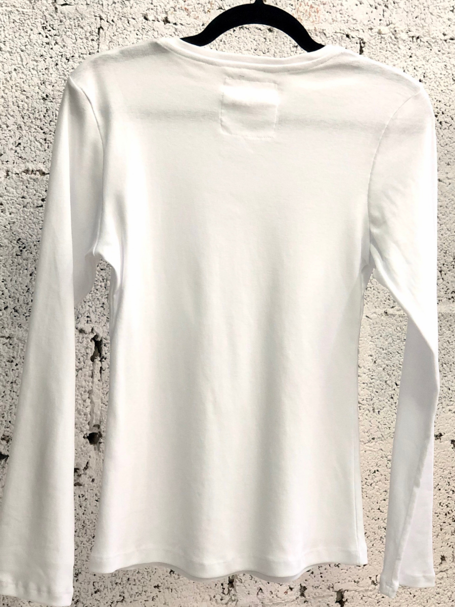 WHITE BASIC NICKI T SHIRT