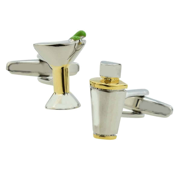 Manchetknopen Cocktail Shaker Martini