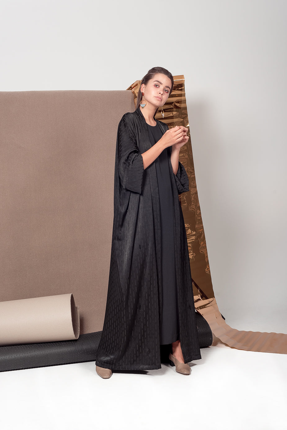 Midnight Black Abaya
