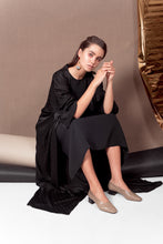 Load image into Gallery viewer, Midnight Black Abaya