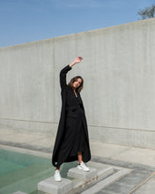 Load image into Gallery viewer, Buckled Down Black Abaya
