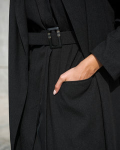 Buckled Down Black Abaya