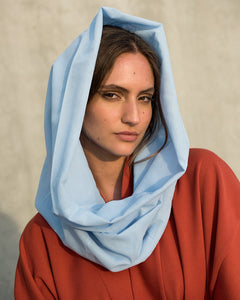 Voile Snood In Cerulean