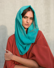 Load image into Gallery viewer, Voile Snood In Sea Green