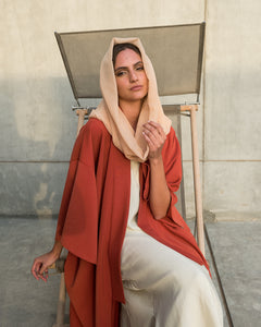 Voile Snood In Apricot