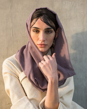 Load image into Gallery viewer, Voile Snood In Vintage Violet