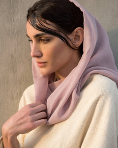 Voile Snood In Light Lilac