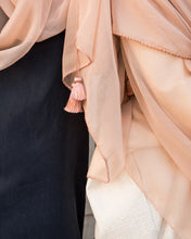 Load image into Gallery viewer, Blush Silk Tassel - Apricot Scarf