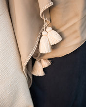 Load image into Gallery viewer, Ivory Cotton Tassel - Beige Scarf