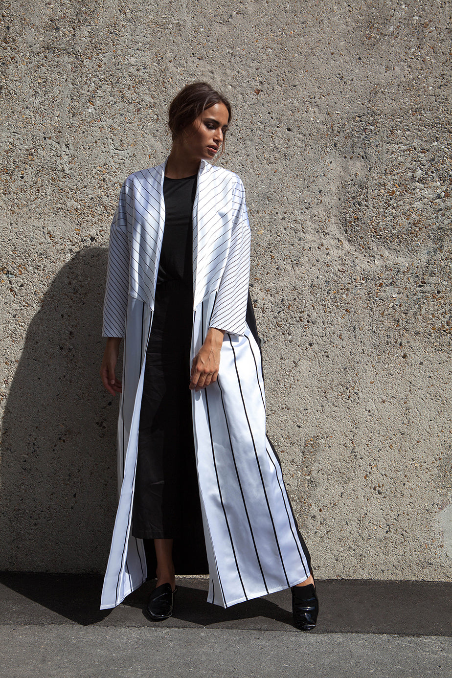 Striped Monochrome Abaya