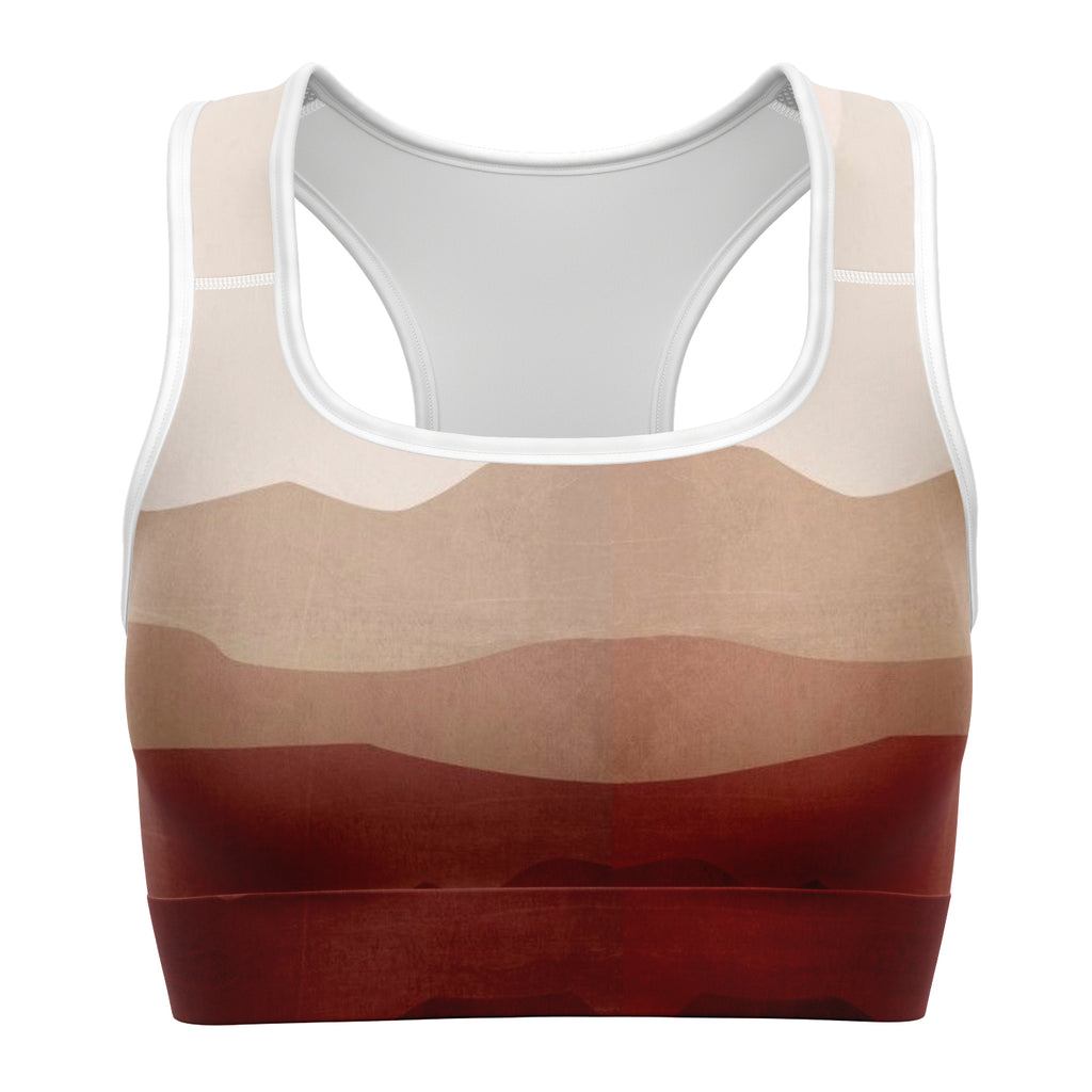 Shades of Red Sports Bra