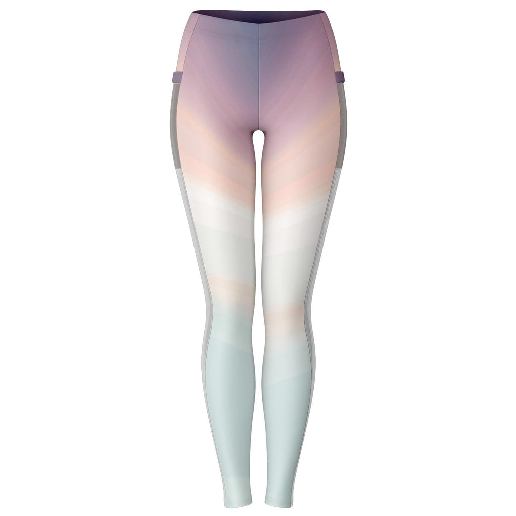 Ombre Yoga pants with mesh