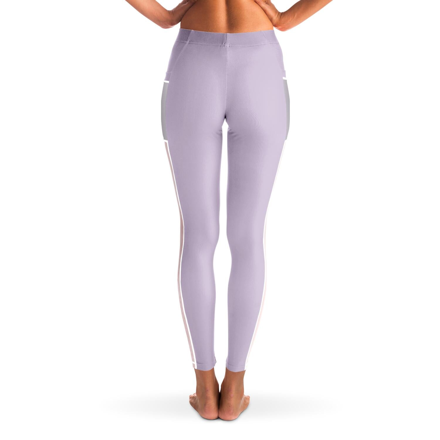 Basic Purple Yoga Pants with Mesh