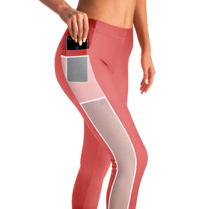 Basic Pink Yoga Pants with Mesh sides