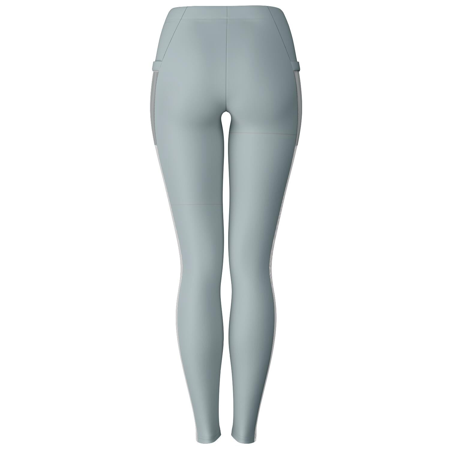 Basic Gray Yoga pants with mesh