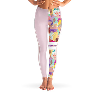Quilla Girl power Yoga Pants with Mesh sides