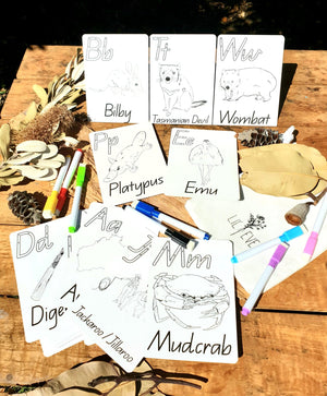 Australiana Alphabet Cards for Kids