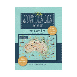 Australia Map Jigsaw Puzzle - 252 pcs with Booklet