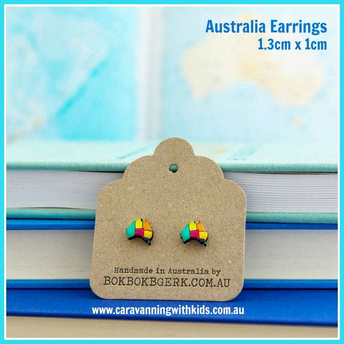 Bok Bok B'Gerk Earrings | Australia Map