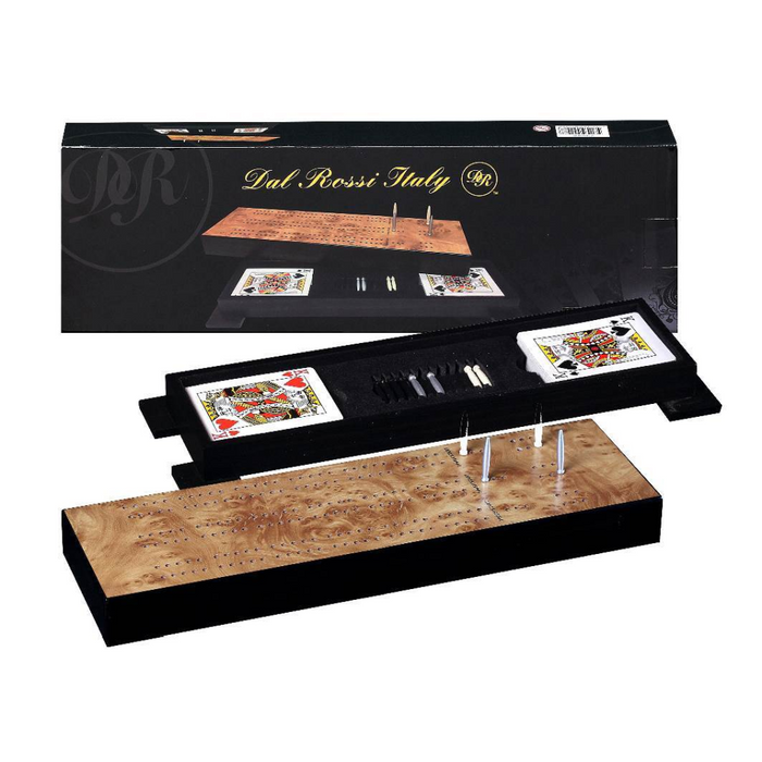 Deluxe Cribbage Case Set with Playing Cards