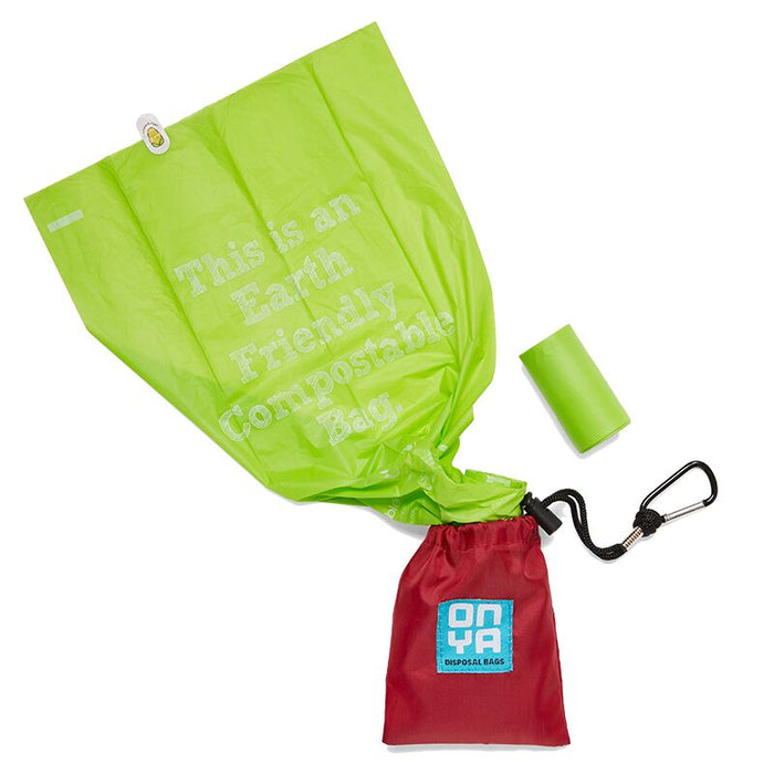 Onya Dog Waste Disposal Bags & Carry Pouch