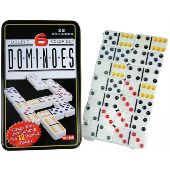 Dominoes D6 in a Tin