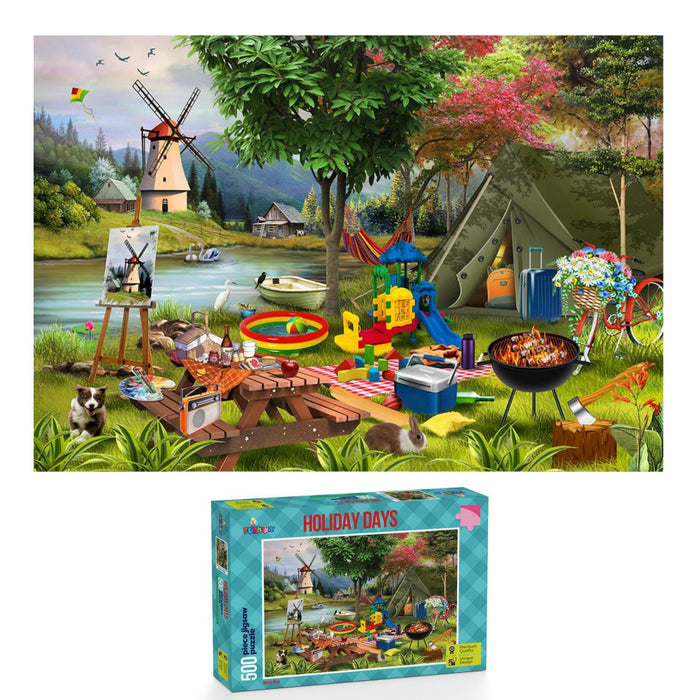 Funbox Jigsaw Puzzle 500 piece - Camping
