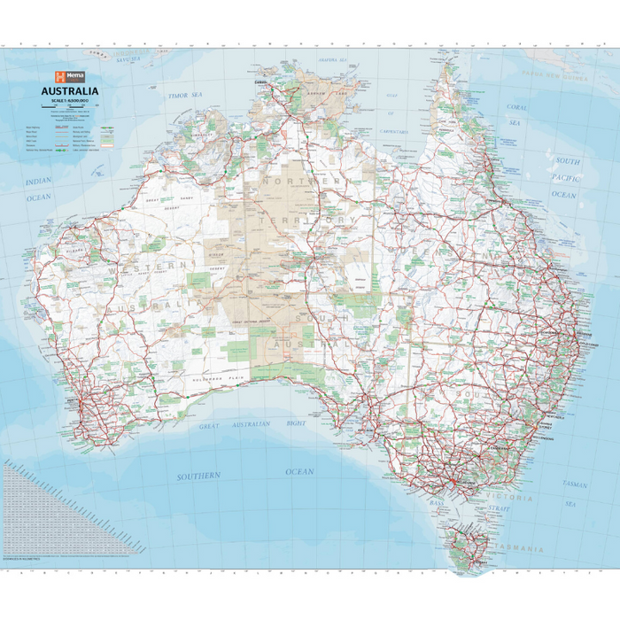 Hema Maps Australia | Handy Map | Laminated 750x625mm