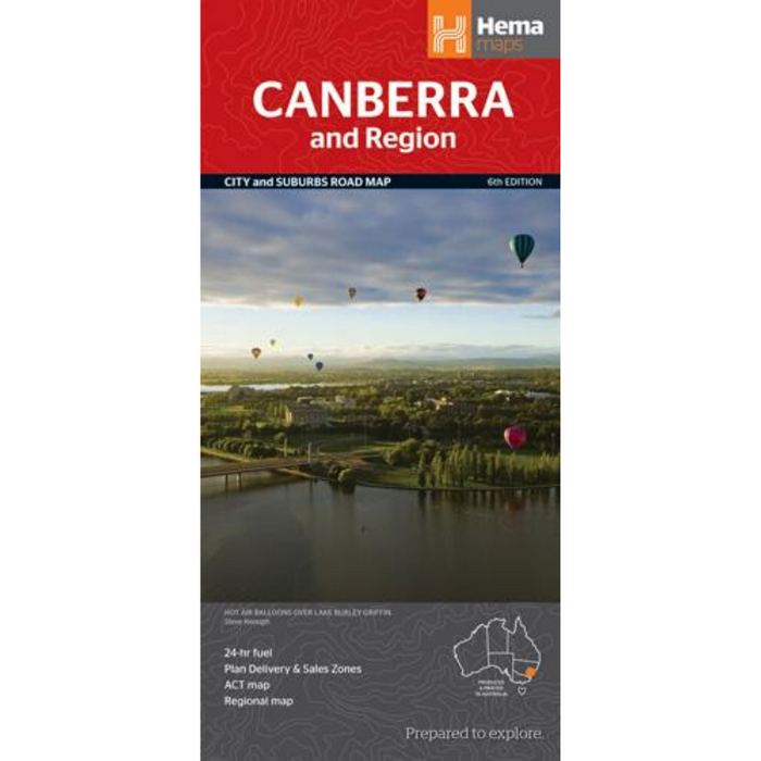 Hema Maps Canberra And Region | Regional Map