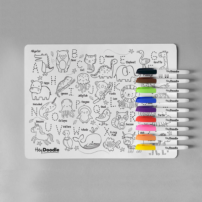 HeyDoodle Silicone Mat - ABC Into The Wild