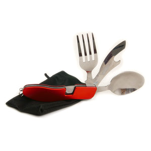 Adventurer's Pocket Knife, Fork & Spoon Set