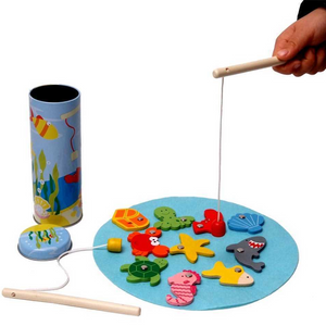 Kaper Kidz Wooden Fishing Game in Tin