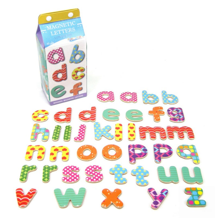 Milk Carton Magnetic Letters - Lowercase