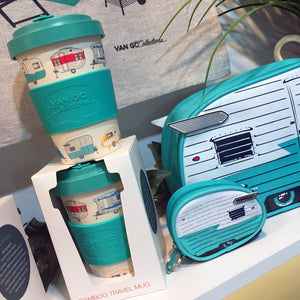 Van Go Bamboo Travel Mug | 400ml | 'Summer' Teal
