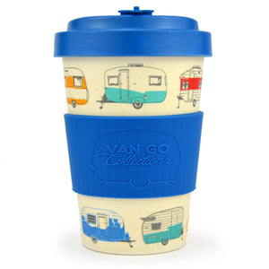 Van Go Bamboo Travel Mug | 400ml | 'Winter' Blue