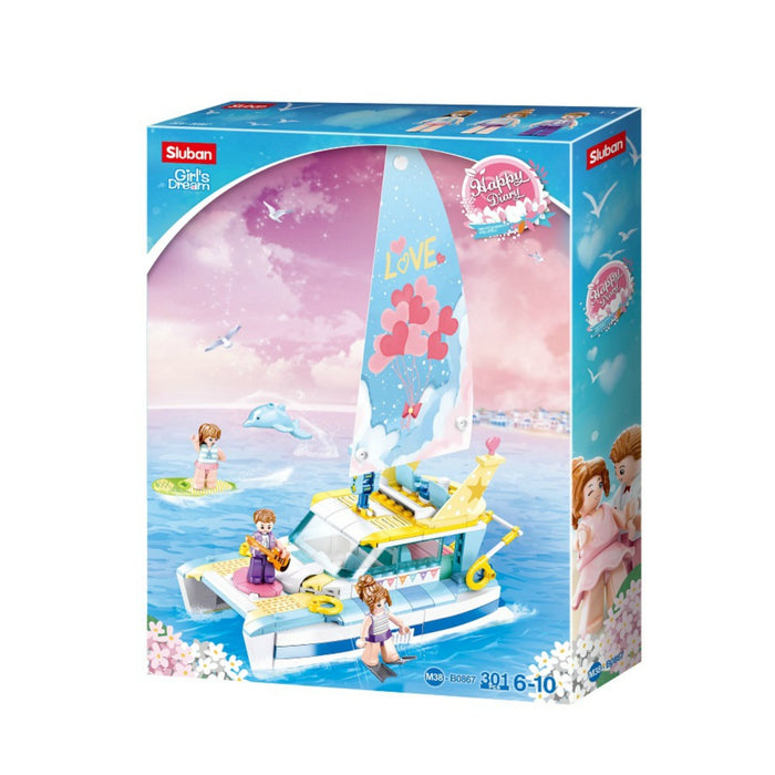 Sluban Bricks - Girls Dream Yacht 308 pcs