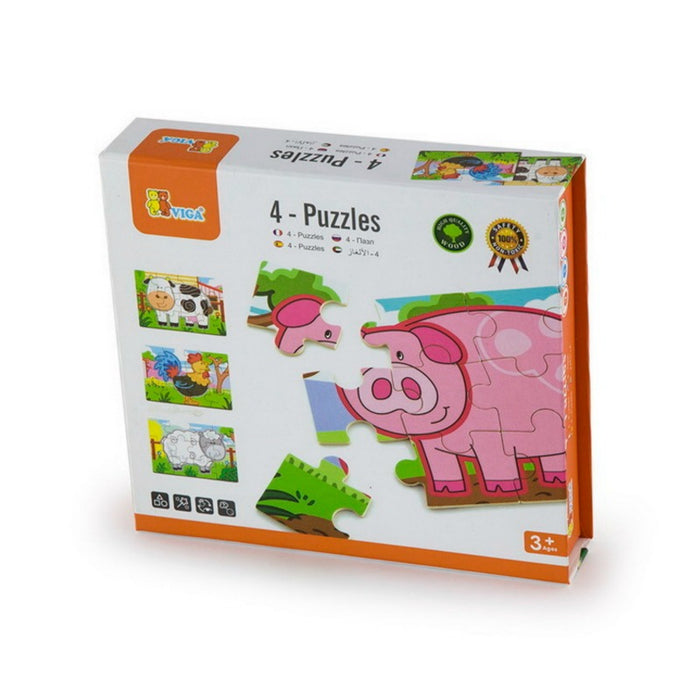 VIGA  4 in 1 Puzzle - Farm
