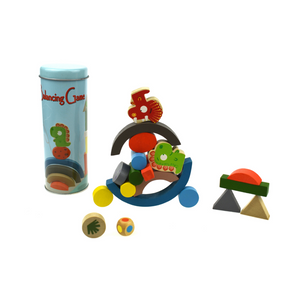 Kaper Kidz Wooden Dinosaur Balancing Blocks in Tin