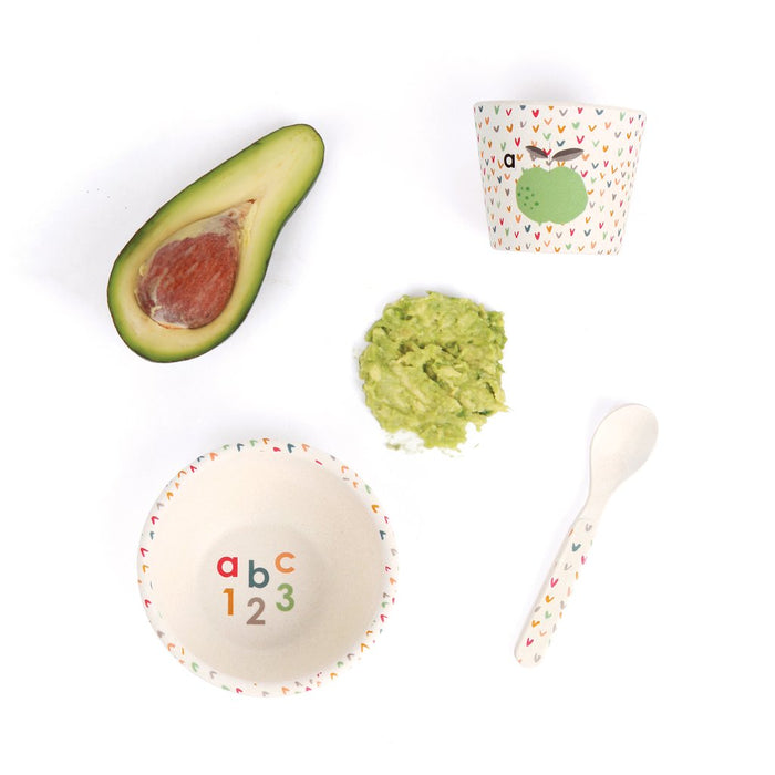 Love Mae Bamboo Baby Feeding Set - ABC